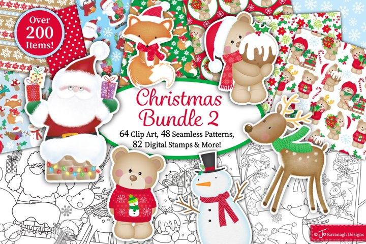 Christmas clipart bundle, Christmas graphics & illustrations