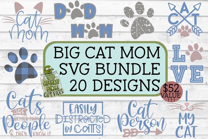 Cat Mom Big SVG Bundle