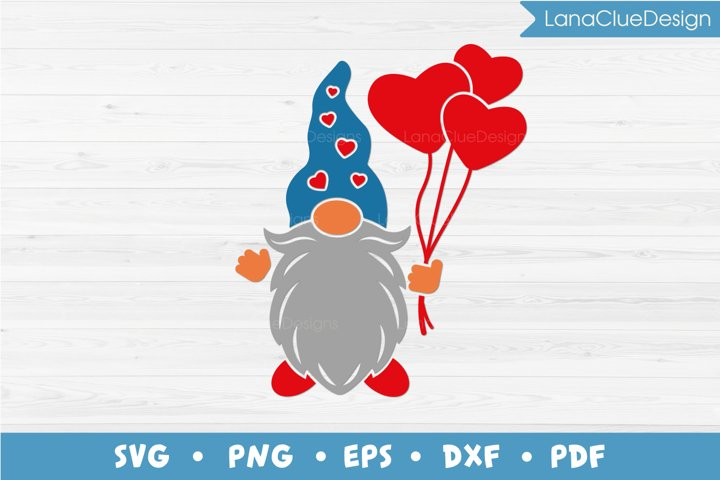 Gnome with Hearts SVG - Valentines Day Gnome