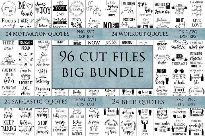 96 Svg cut files bundle