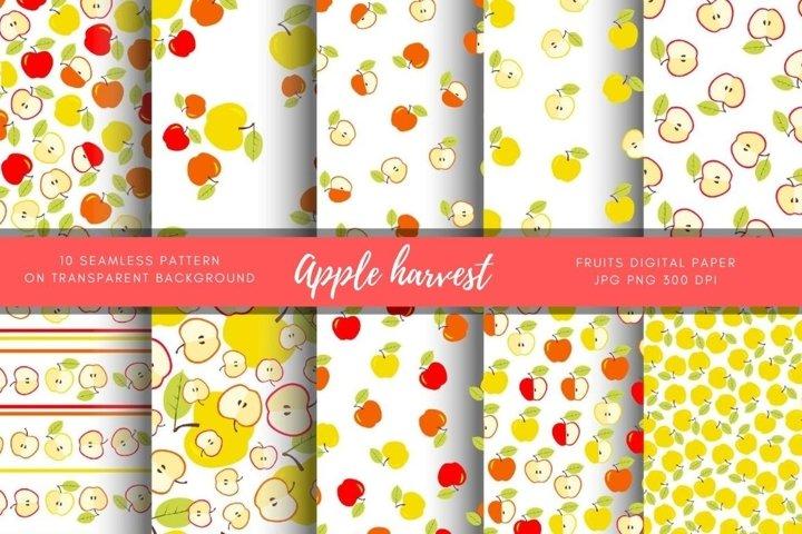 Apple Digital Paper. Harvest, Autumn, Back to school Party