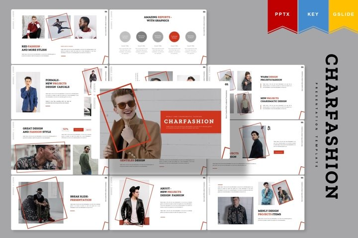 Charfashion | Powerpoint, Keynote, Google Slides Template