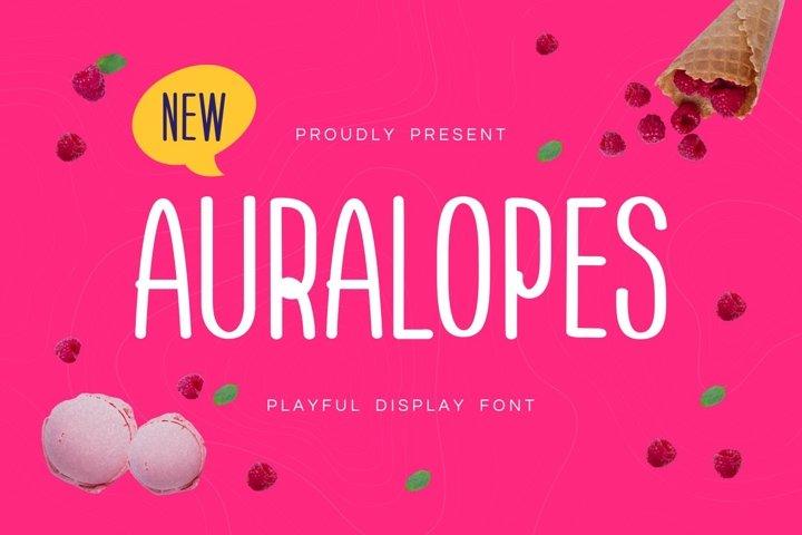 Aura Lopes - Playful Display Font
