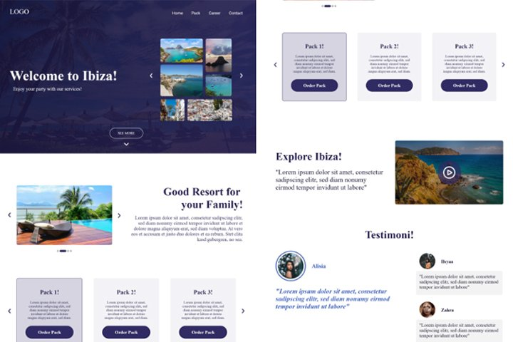 Ibiza Travel Web Landing Page