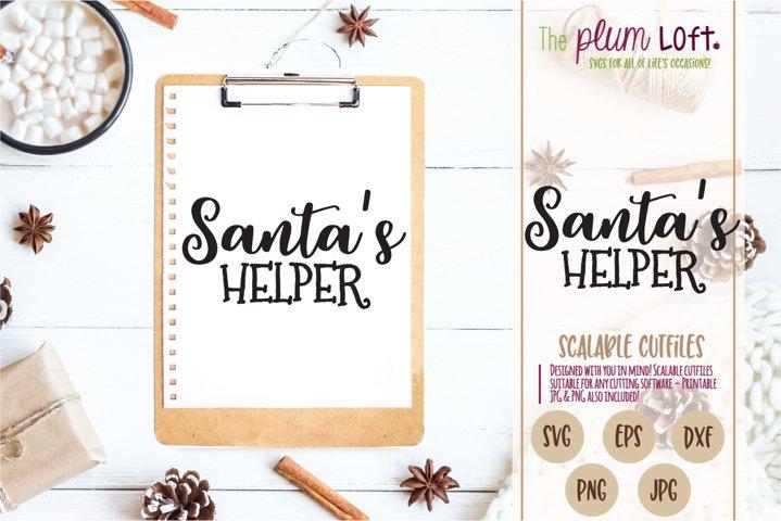 Santas Helper - Christmas Holiday - SVG Design