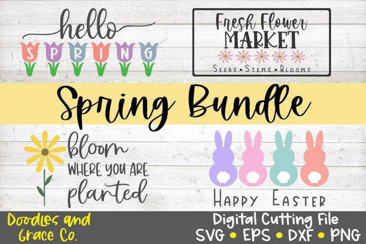 Spring Sign Bundle - SVG - EPS - DXF - PNG