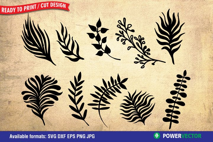Leaves Dxf | Leaf SVG for Silhouette, Cricut Cutting