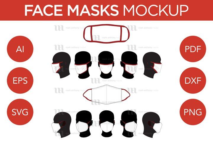 Face Masks - Vector Mockup Template
