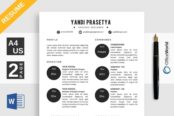 Baller Simple Resume / CV