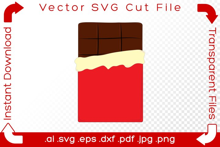 Chocolate Bar with Wrapper SVG Food Cut File for Crafters