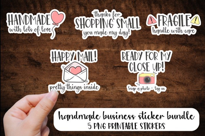 Handmade Business Sticker Bundle
