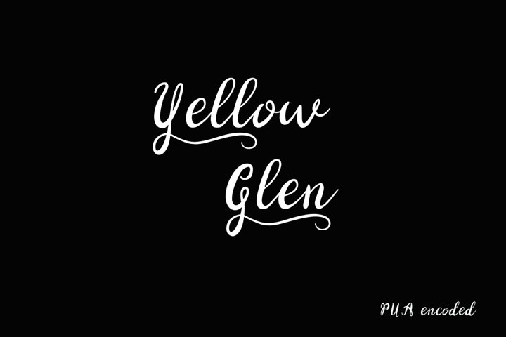 Yellow Glen Script Font