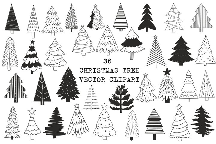 Christmas tree clipart, Christmas Svg cut files for Cricut