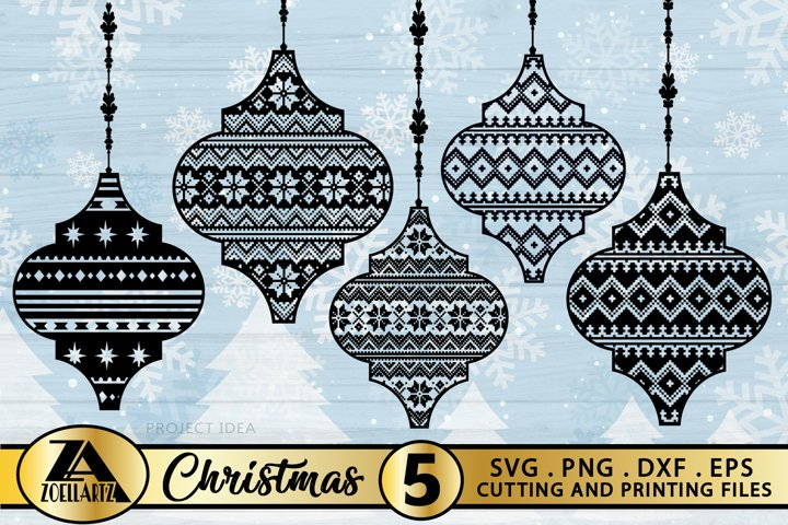 Arabesque SVG PNG DXF Arabesque Christmas Ornament Bundle