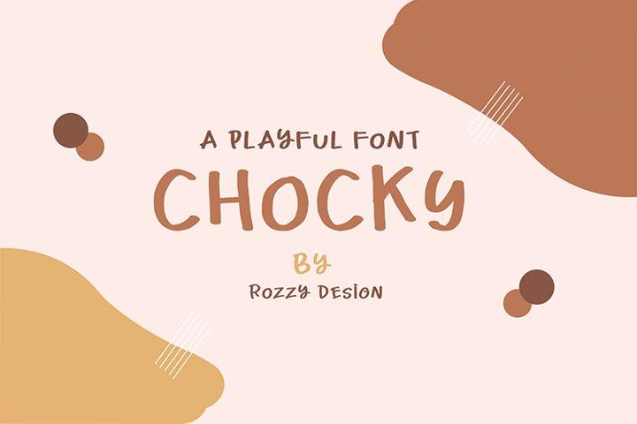 Chocky A playful Font