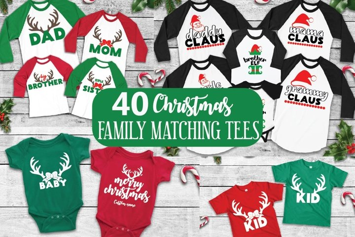 Christmas Family Matching tee svgs, Christmas svg bundle