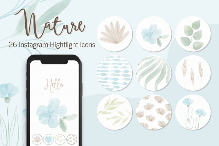 Instagram Highlight Covers,Hand Painted Instagram Story Icon