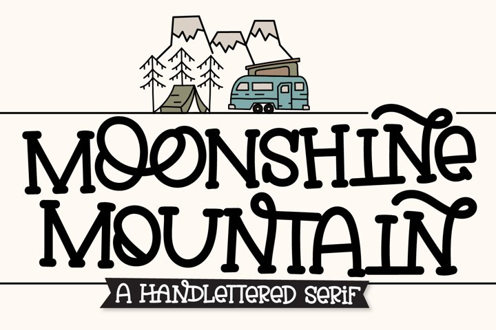 Moonshine Mountain - A Silly Soft Caps Font