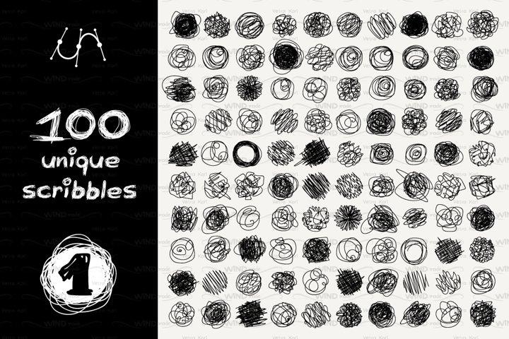 vector SET 100 SCRIBBLES Part 1 - circle