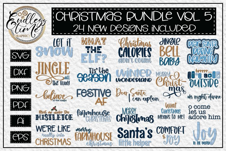 Christmas Bundle Volume 5 - 24 Festive Christmas SVG Designs