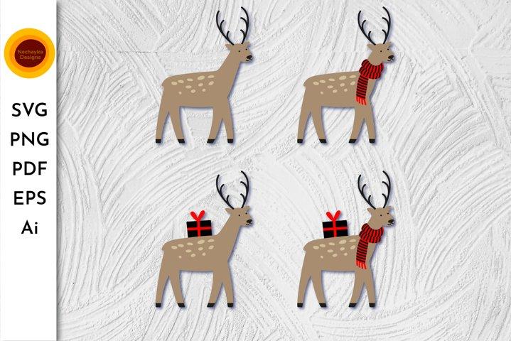 Deer SVG Deer PNG Reindeer SVG Reindeer PNG Christmas Deer