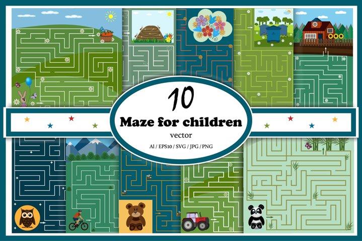 Childrens mazes set 2