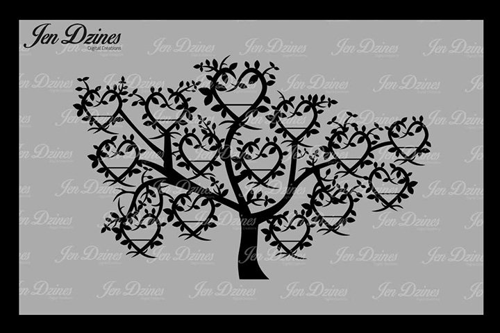 Family Tree 14 Names SVG DXF EPS PNG
