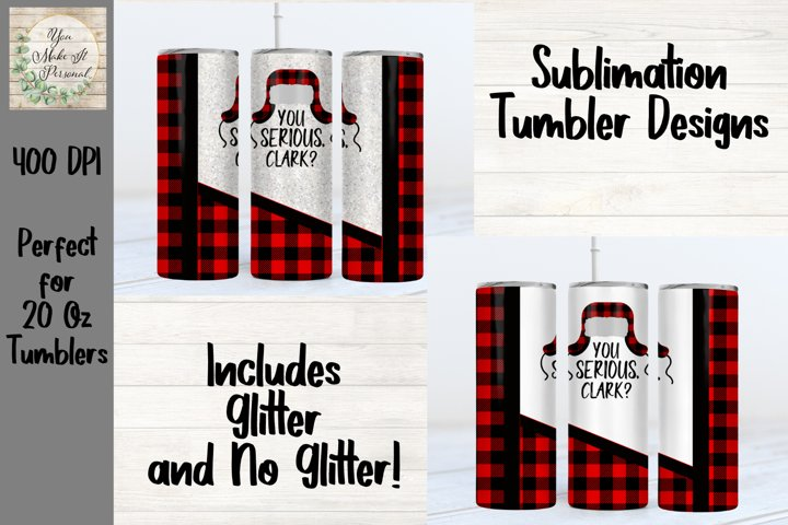 Sublimation Tumbler Design, Christmas Design for Sublimation