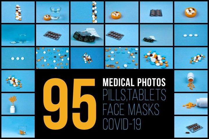 Set of 95 medical photos
