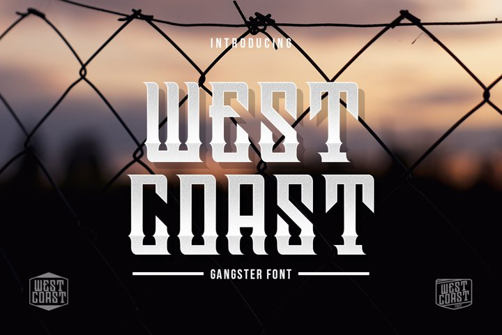 Westcoast | Gangster Font