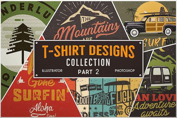 Vintage T-Shirt Designs Bundle SVG Retro Collection. Part 2
