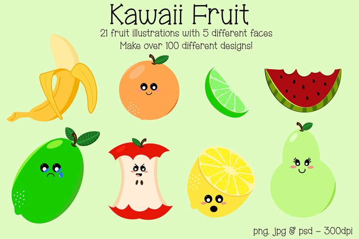 Kawaii Fruit Mix and Match Pack