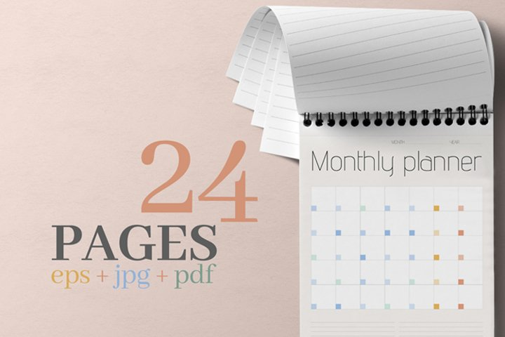 Monthly planner.