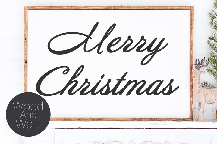 Merry Christmas SVG | Holiday Cut File