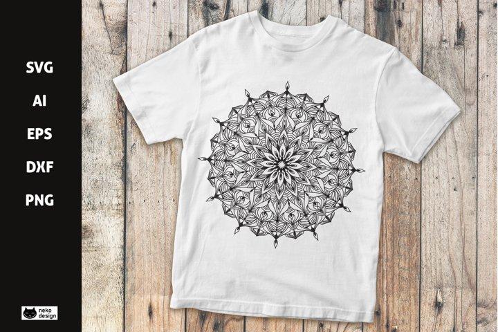 Mandala Vector Design SVG Cut File
