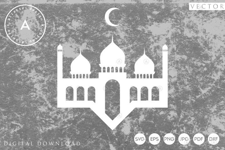 Mosque Paper Cut Template | Ramadan Svg