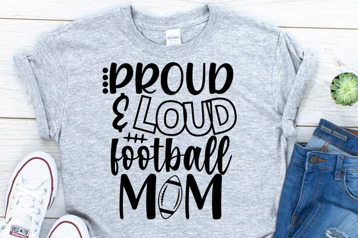 Football Mom SVG, DXF, PNG, EPS