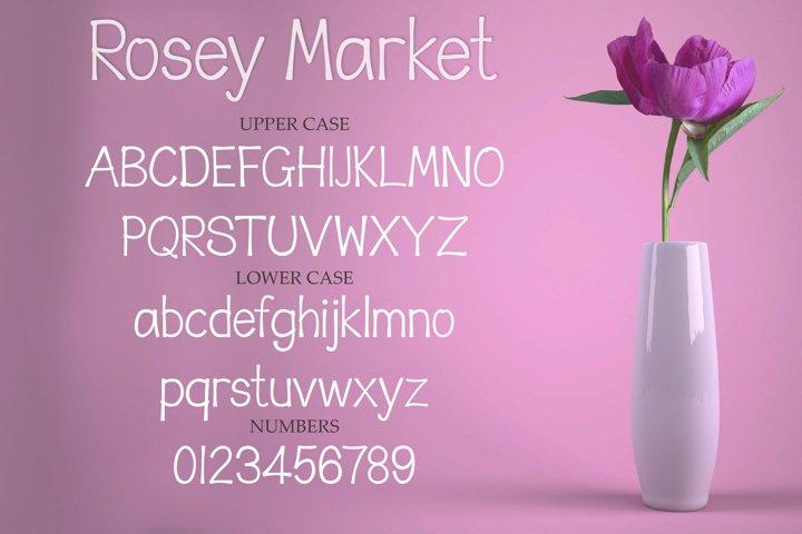 Rosey Market - a fun handwritten font