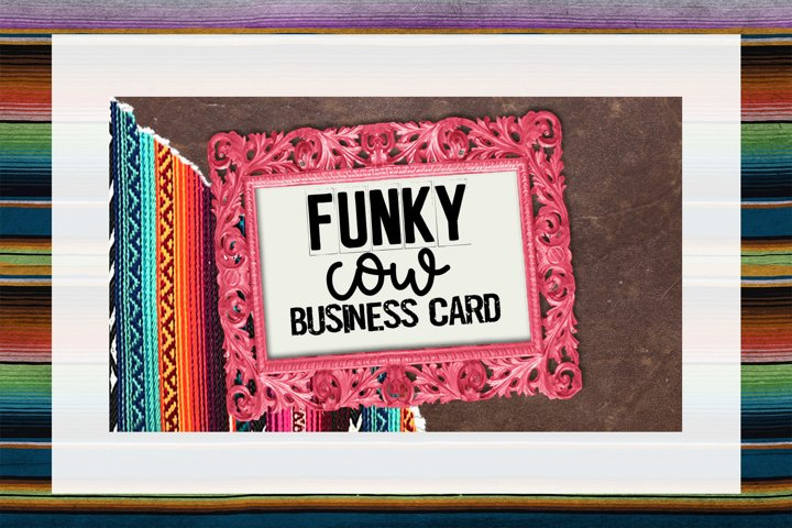 Funky Cow Business Card Digital Download