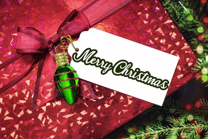 3 Merry Christmas Print & Cut Files