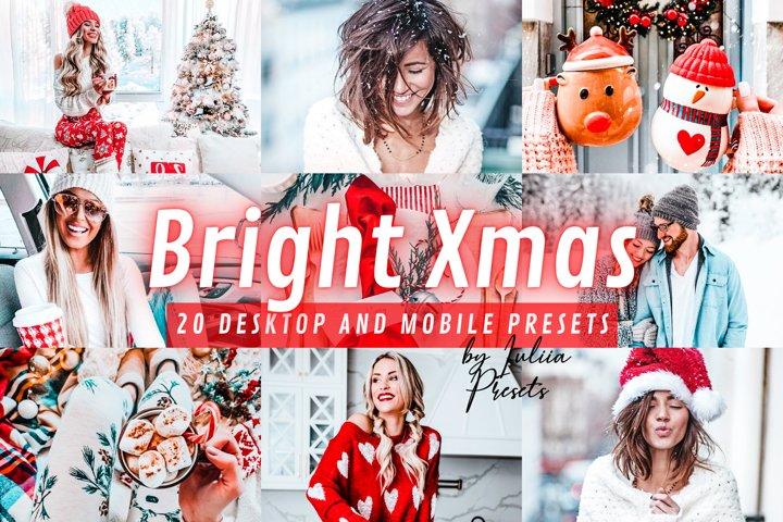 20 Christmas BRIGHT XMAS Lightroom Presets Mobile & Desktop
