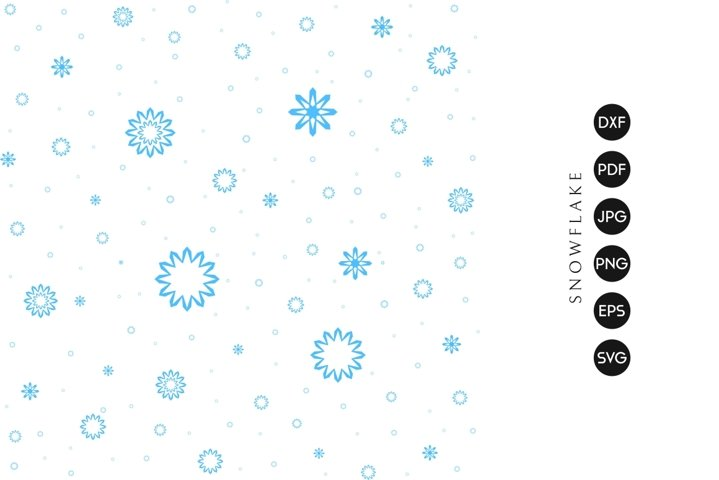 Snowflakes | Falling Snow SVG