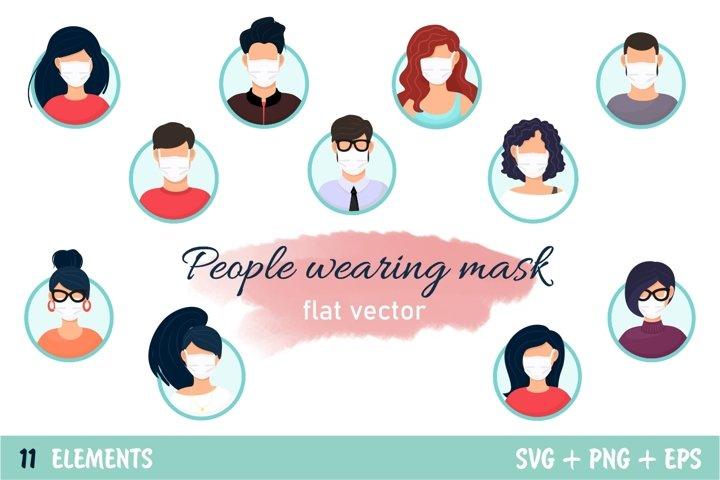 People wearing mask