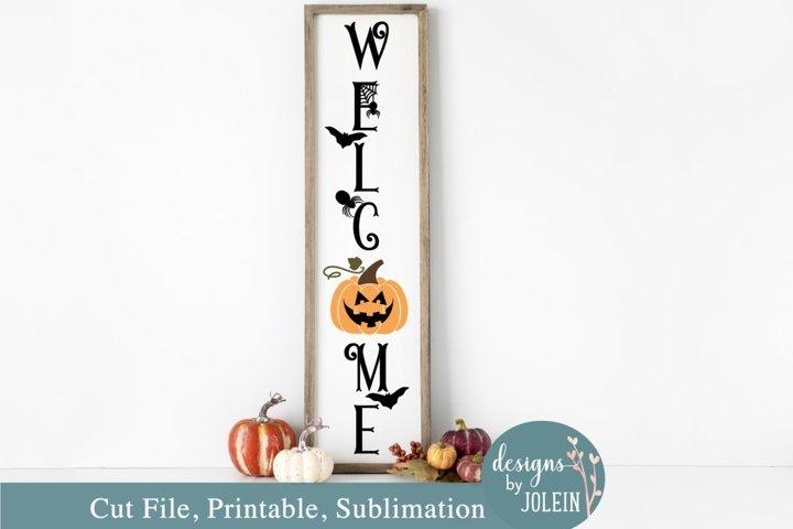 Halloween Welcome Porch SVG, Sublimation, Printable, Cricut