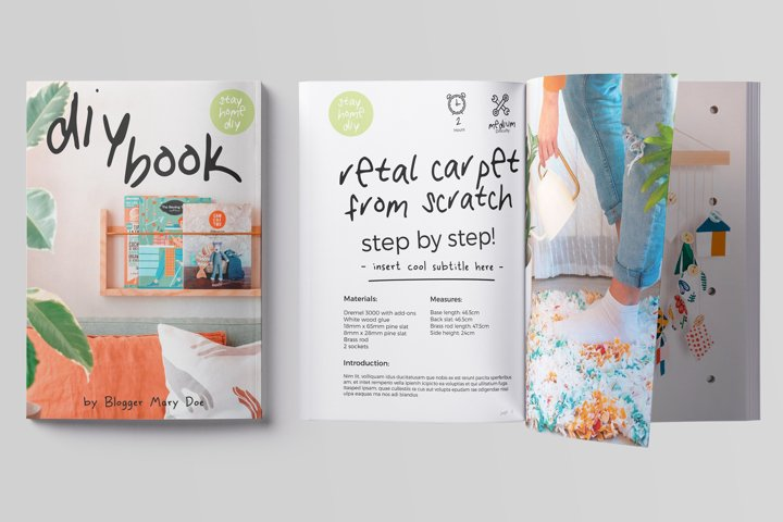 32 Pages DIY CookBook Magazine