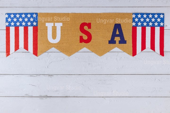 USA word of letters on celebrating US. federal holiday