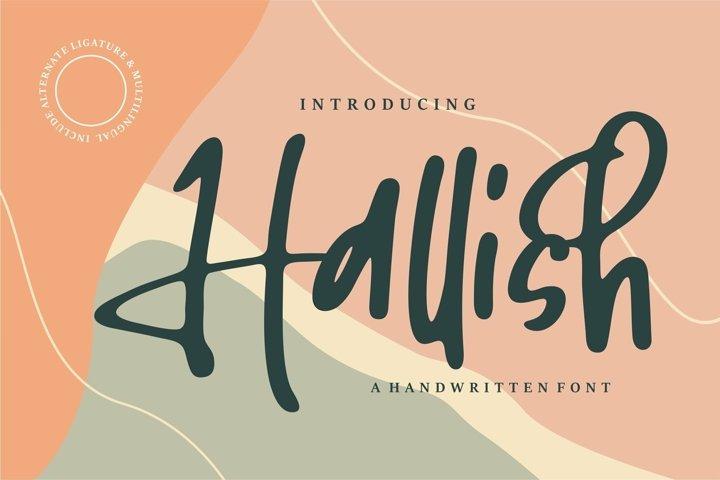 Web Font Hallish - A Handwritten Font