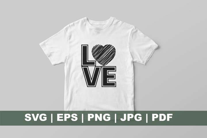 Black and white Love Sublimation Designs. Valentines Day