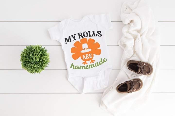 My Rolls Are Homemade SVG Thanksgiving, Fall Sayings SVG