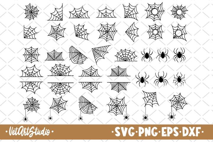 35 Spiders and spider web bundle svg, Halloween svg